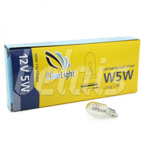 Лампа накаливания «ClearLight» W5W (12V, T10)