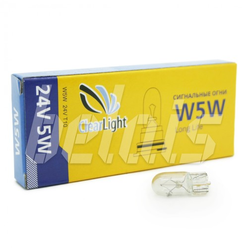 Лампа накаливания «ClearLight» W5W (24V, T10)
